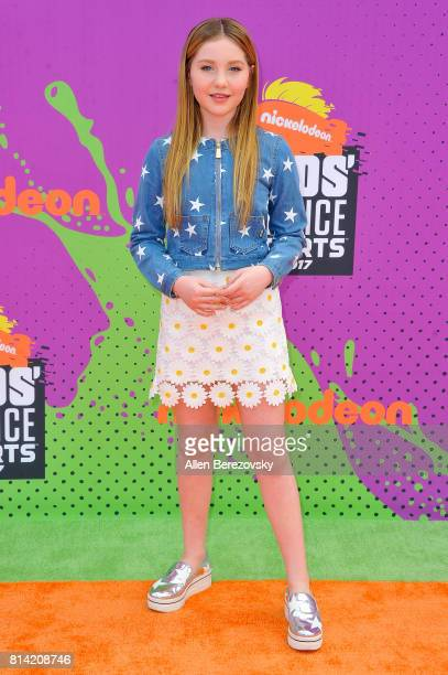 Actress Ella Anderson attends Nickelodeon Kids' Choice Sports Awards 2017 at Pauley Pavilion on July 13 2017 in Los Angeles California