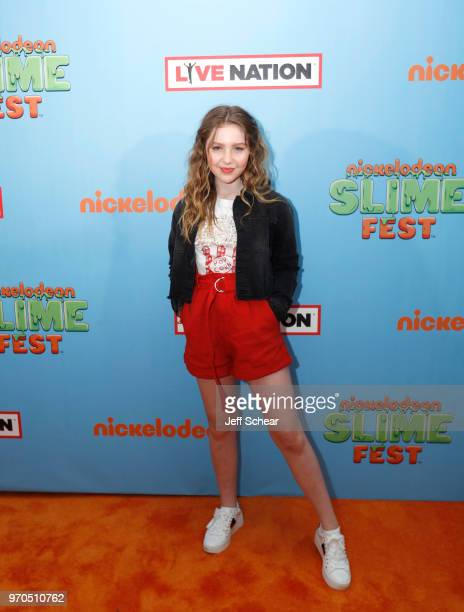 Actress Ella Anderson attends Nickelodeon SlimeFest at Huntington Bank Pavilion at Northerly Island on June 9, 2018 in Chicago, Illinois.