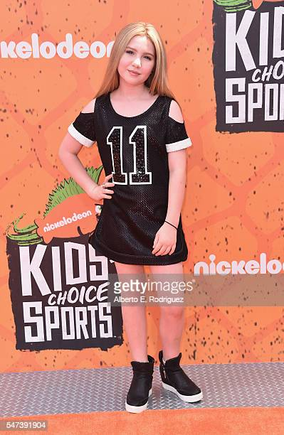 Actress Ella Anderson attends the Nickelodeon Kids' Choice Sports Awards 2016 at UCLA's Pauley Pavilion on July 14, 2016 in Westwood, California.