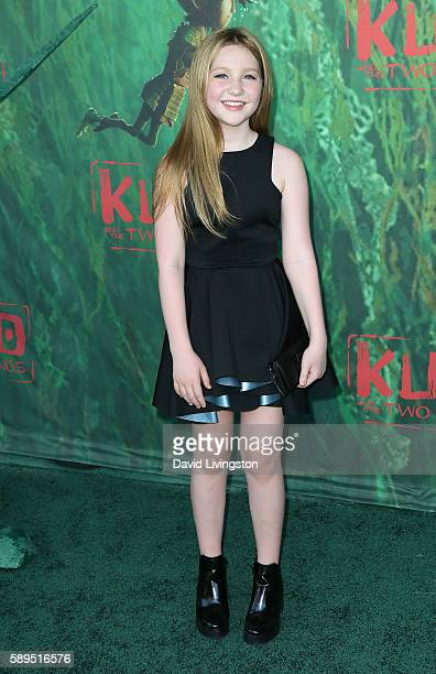 Actress Ella Anderson attends the premiere of Focus Features' 'Kubo and the Two Strings' at AMC Universal City Walk on August 14 2016 in Universal...