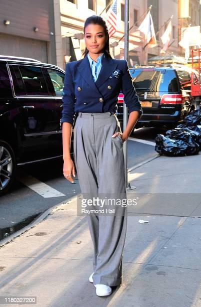 Actress Ella Balinska is seen outside good morning america on November 6 2019 in New York City