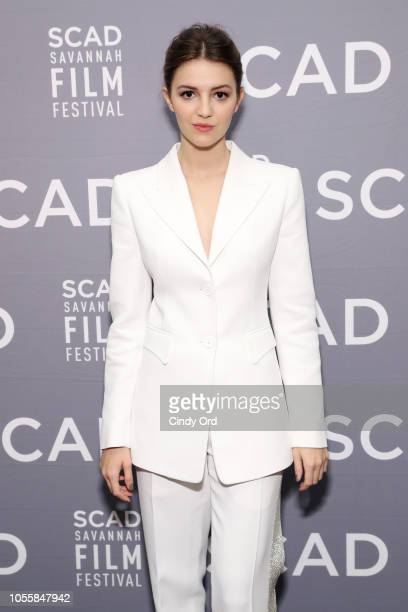 Actress Ella Hunt attends the 'Anna and the Apocalypse' Q&A at the 21st SCAD Savannah Film Festival on October 31, 2018 in Savannah, Georgia.