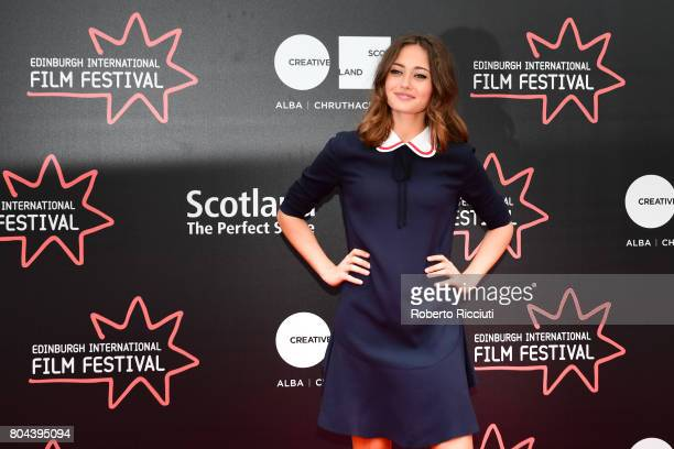 Actress Ella Purnell attends a photocall for the World Premiere of 'Access All Areas' during the 71st Edinburgh International Film Festival at...