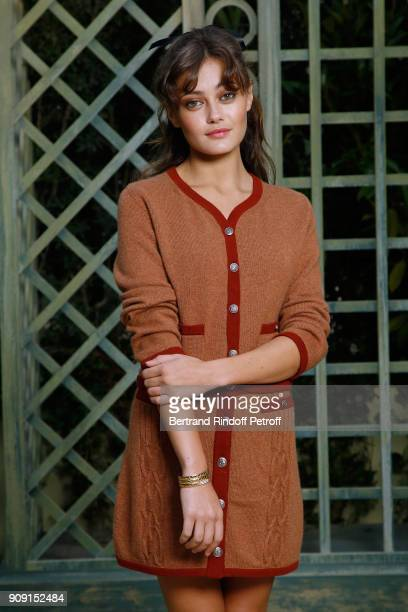 Actress Ella Purnell attends the Chanel Haute Couture Spring Summer 2018 show as part of Paris Fashion Week on January 23 2018 in Paris France