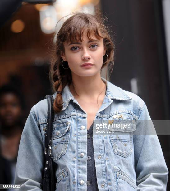 Actress Ella Purnell on the set of the Starz drama 'Sweetbitter' on October 26 2017 in New York City