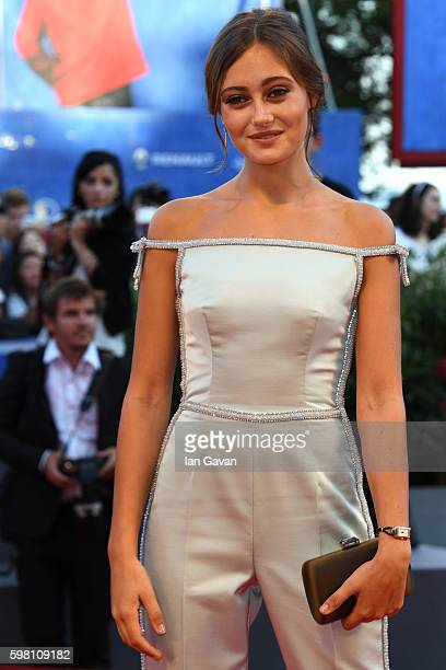 Actress Ella Purnell wearing a JaegerLeCoultre watch attends the opening ceremony and premiere of 'La La Land' during the 73rd Venice Film Festival...