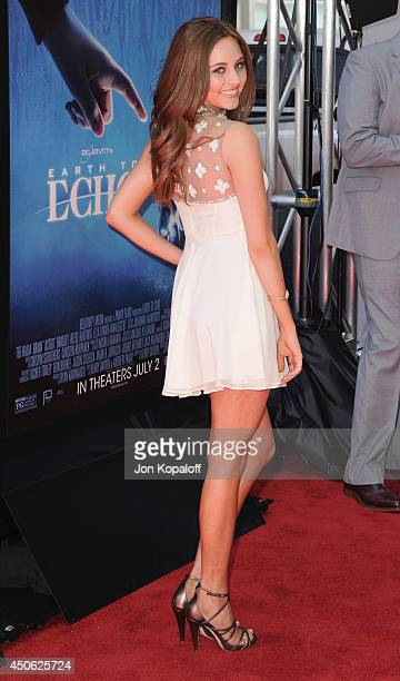Actress Ella Wahlestedt arrives at the 2014 Los Angeles Film Festival Screening Of Earth To Echo at Regal Cinemas LA Live on June 14 2014 in Los...