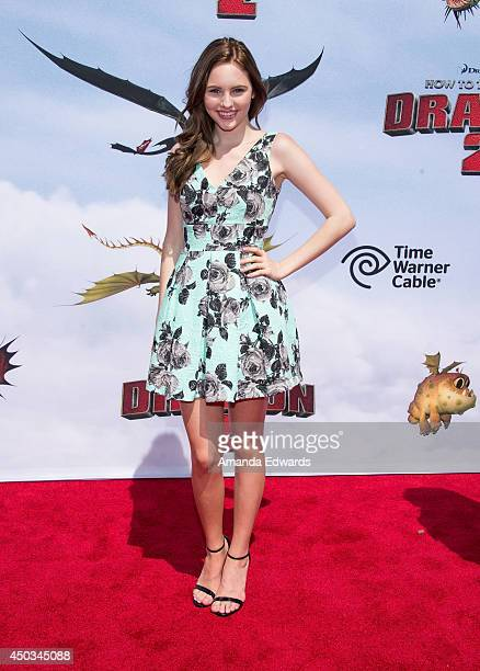Actress Ella Wahlestedt arrives at the Los Angeles premiere of How To Train Your Dragon 2 at the Regency Village Theatre on June 8 2014 in Westwood...