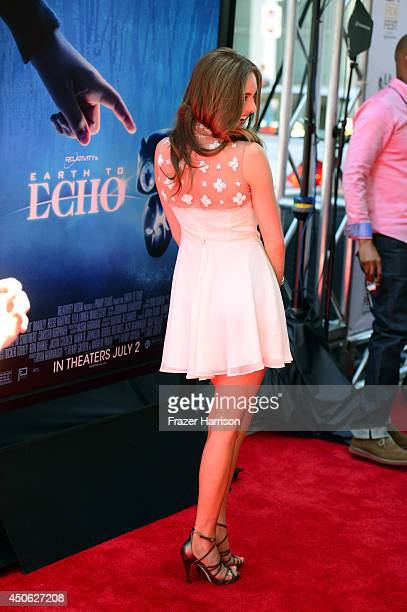 Actress Ella Wahlestedt attends the premiere of Earth to Echo during the 2014 Los Angeles Film Festival at Premiere House on June 14 2014 in Los...