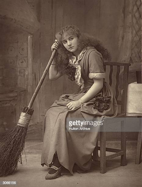 Actress Ellaline Terriss as Cinderella at the Lyceum Theatre