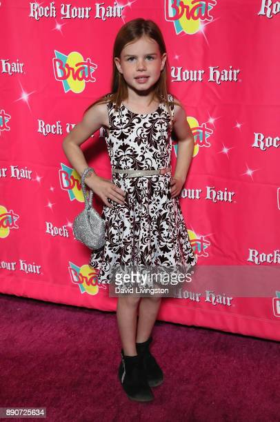 Actress Ellarose Kaylor attends social media influencer Annie LeBlanc's 13th birthday party at Calamigos Beach Club on December 9 2017 in Malibu...