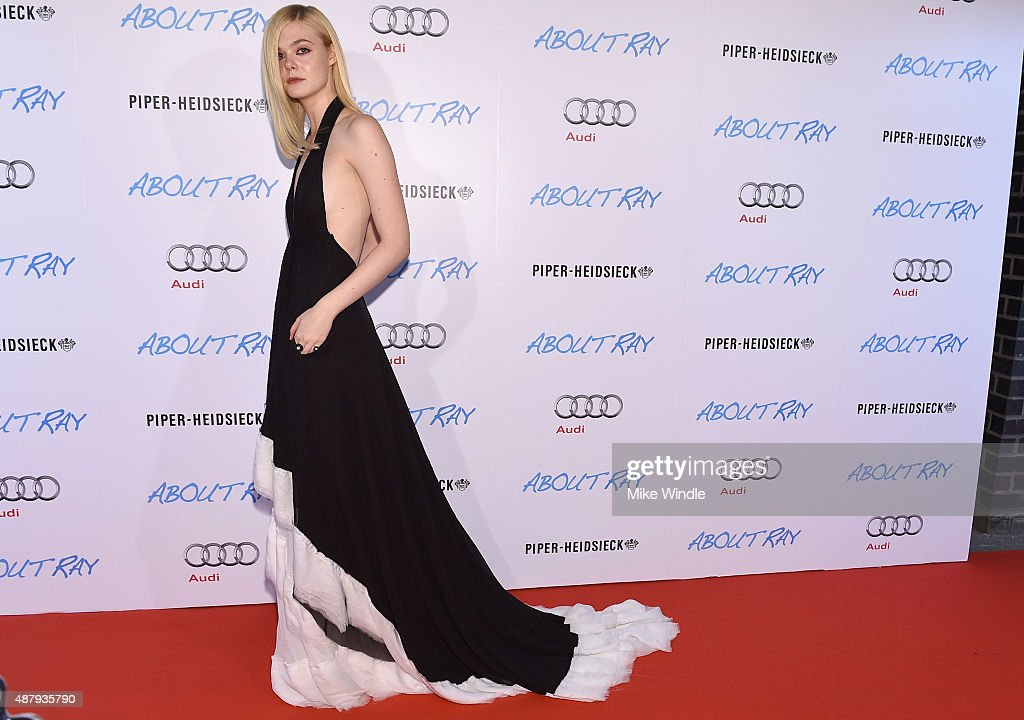 Actress Elle Fanninf attends the Toronto International Film Festival party for ABOUT RAY, hosted by Entertainment One and The Weinstein Company at Patria on September 12, 2015 in Toronto, Canada.
