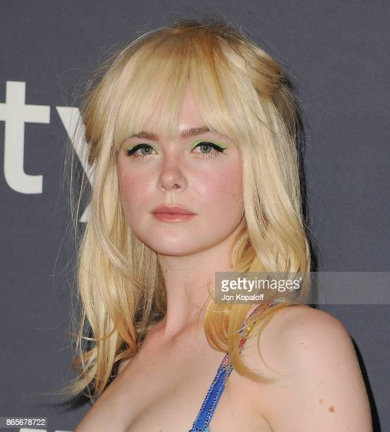 Actress Elle Fanning arrives at the 3rd Annual InStyle Awards at The Getty Center on October 23 2017 in Los Angeles California