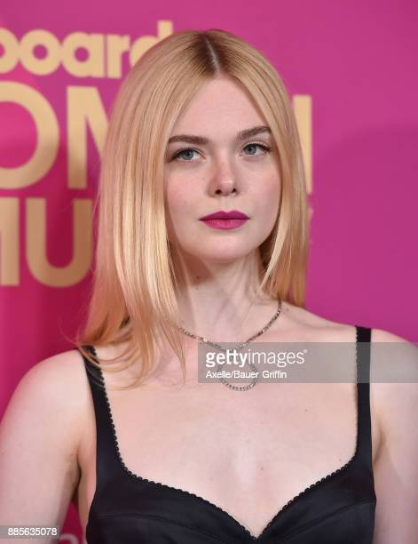 Actress Elle Fanning arrives at the Billboard Women In Music 2017 at The Ray Dolby Ballroom at Hollywood Highland Center on November 30 2017 in...