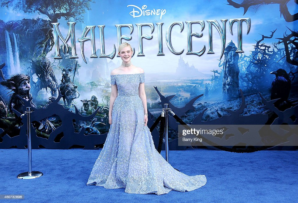 Actress Elle Fanning arrives at the Los Angeles premiere of 'Maleficent' on May 28, 2014 at the El Capitan Theatre in Hollywood, California.