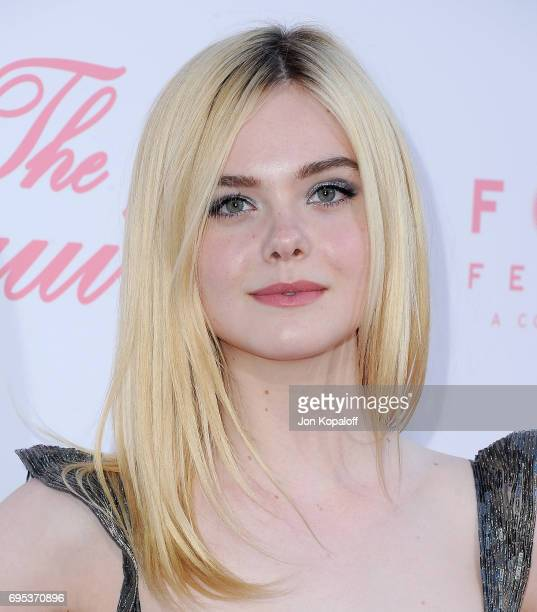 Actress Elle Fanning arrives at the US Premiere Of 'The Beguiled' at Directors Guild Of America on June 12 2017 in Los Angeles California