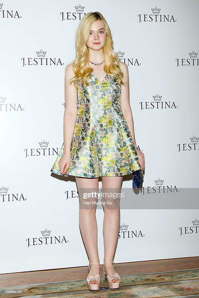 Actress Elle Fanning attends a promotional event for the 2013 J.ESTINA SS presentation at Shilla Hotel on January 7, 2013 in Seoul, South Korea.