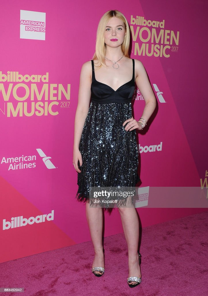 Actress Elle Fanning attends Billboard Women In Music 2017 at The Ray Dolby Ballroom at Hollywood & Highland Center on November 30, 2017 in Hollywood, California.