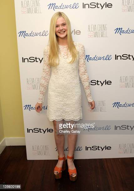 Actress Elle Fanning attends Madewell Alexa Chung InStyle celebrate the launch of The Alexa Chung For Madewell Fall 2011 Collection at Chateau...
