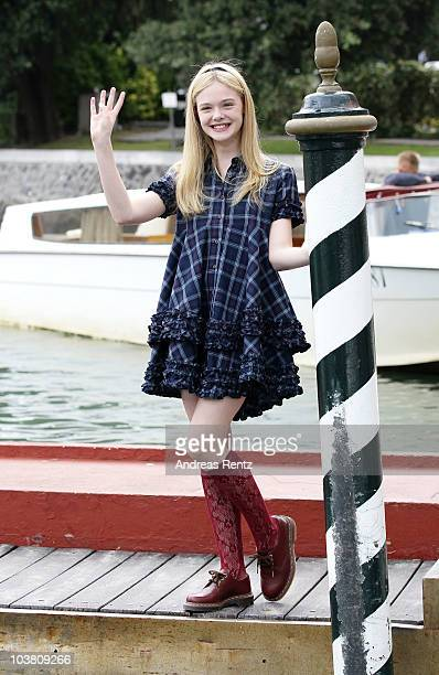 Actress Elle Fanning attends the 67th Venice Film Festival on September 3 2010 in Venice Italy
