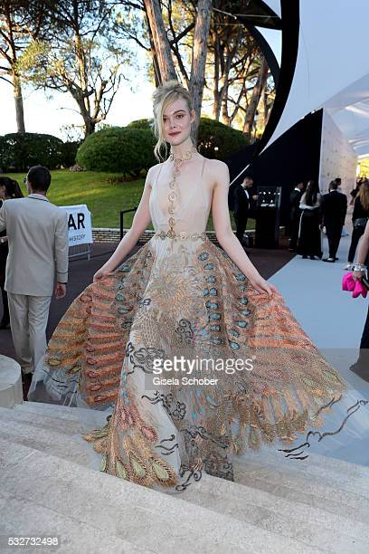 Actress Elle Fanning attends the amfAR's 23rd Cinema Against AIDS Gala at Hotel du CapEdenRoc on May 19 2016 in Cap d'Antibes France