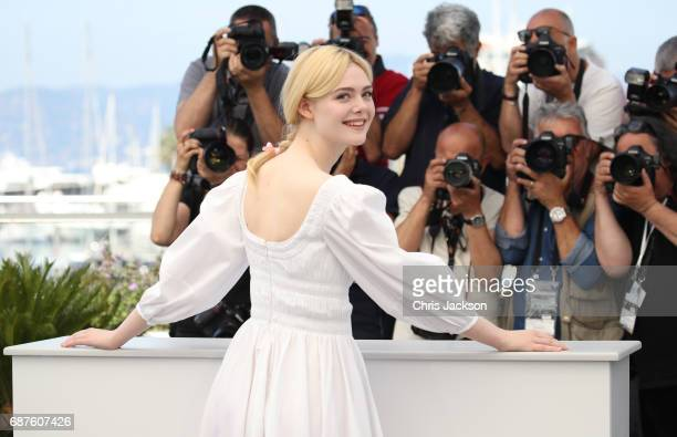 """Actress Elle Fanning attends """"The Beguiled"""" photocall during the 70th annual Cannes Film Festival at Palais des Festivals on May 24, 2017 in Cannes,..."""