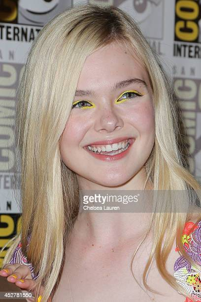 Actress Elle Fanning attends The Boxtrolls press room at ComicCon International on July 26 2014 in San Diego California