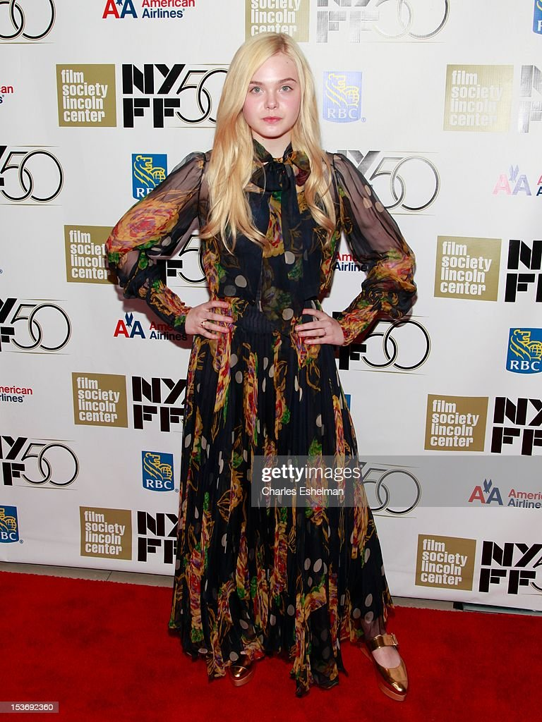 Actress Elle Fanning attends the 'Ginger And Rosa' premiere during the 50th New York Film Festival at Alice Tully Hall at Lincoln Center on October 8, 2012 in New York City.