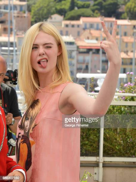 Actress Elle Fanning attends the 'How To Talk To Girls At Parties' photocall during the 70th annual Cannes Film Festival at on May 21 2017 in Cannes...