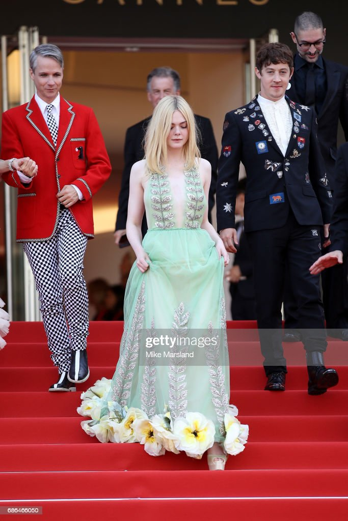 Actress Elle Fanning attends the 'How To Talk To Girls At Parties' screening during the 70th annual Cannes Film Festival at on May 21, 2017 in Cannes, France.