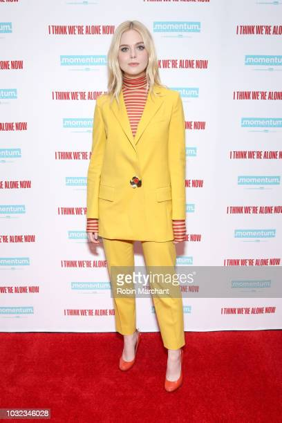 Actress Elle Fanning attends the New York Special Screening Of 'I Think We're Alone Now' on September 12 2018 at the Dolby 88 Theater in New York City