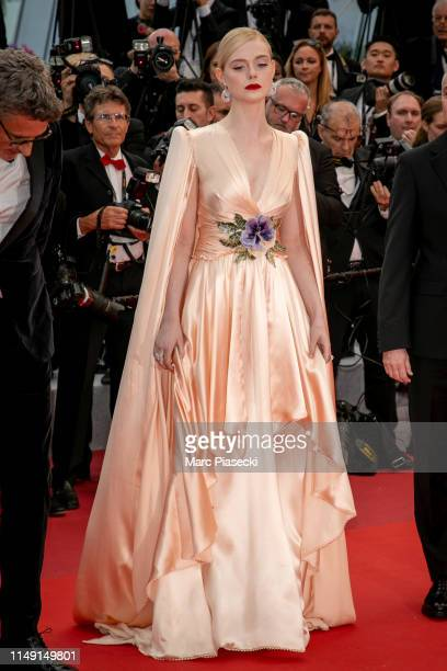 Actress Elle Fanning attends the opening ceremony and screening of The Dead Don't Die during the 72nd annual Cannes Film Festival on May 14 2019 in...