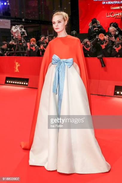 US actress Elle Fanning attends the Opening Ceremony 'Isle of Dogs' premiere during the 68th Berlinale International Film Festival Berlin at...