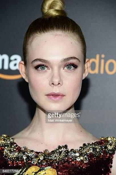 Actress Elle Fanning attends the premiere of Amazon's The Neon Demon at ArcLight Cinemas Cinerama Dome on June 14 2016 in Hollywood California