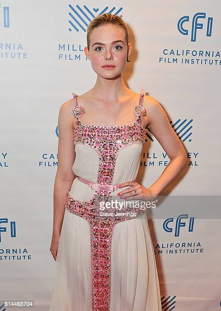 Actress Elle Fanning attends the Premiere Screening of '20th Century Women' at the 39th Mill Valley Film Festival at Christopher B Smith Rafael Film...