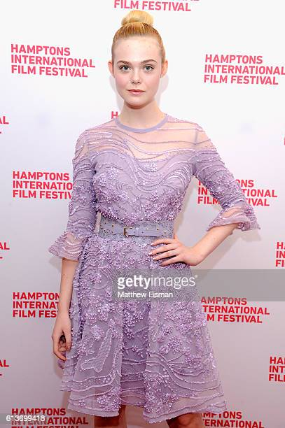 Actress Elle Fanning attends the red carpet of 20th Century Women screening during the Hamptons International Film Festival 2016 at Guild Hall on...