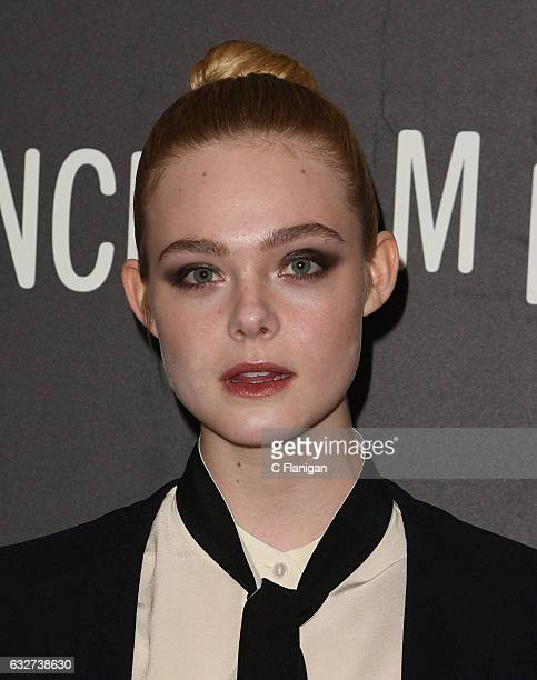 Actress Elle Fanning attends the 'Sidney Hall' Premiere during 2017 Sundance Film Festival at Eccles Center Theatre on January 25 2017 in Park City...