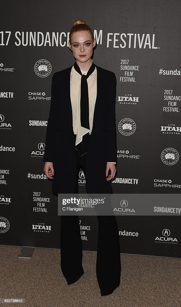 Actress Elle Fanning attends the 'Sidney Hall' Premiere during 2017 Sundance Film Festival at Eccles Center Theatre on January 25, 2017 in Park City, Utah.