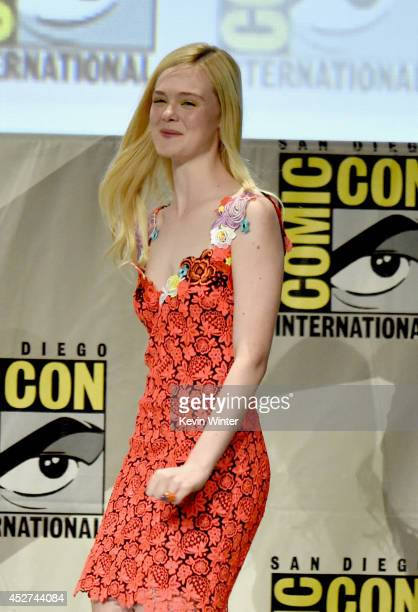 Actress Elle Fanning attends the 'The Boxtrolls' panel during ComicCon International 2014 at San Diego Convention Center on July 26 2014 in San Diego...