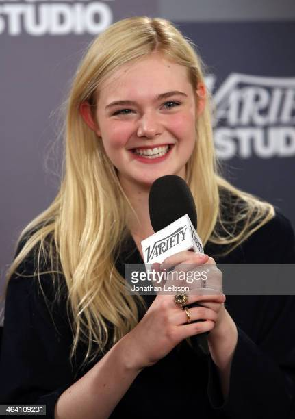 Actress Elle Fanning attends The Variety Studio Sundance Edition Presented By Dawn Levy on January 20 2014 in Park City Utah