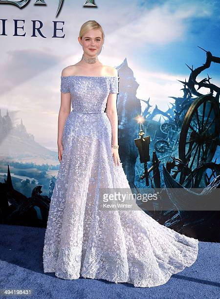 "Actress Elle Fanning attends the World Premiere of Disney's ""Maleficent"" at the El Capitan Theatre on May 28, 2014 in Hollywood, California."