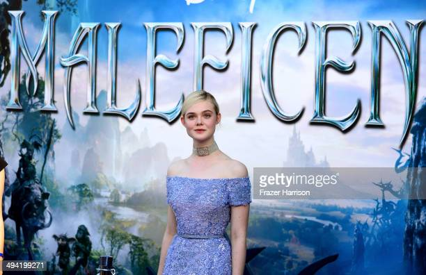 """Actress Elle Fanning attends the World Premiere of Disney's """"Maleficent"""" at the El Capitan Theatre on May 28, 2014 in Hollywood, California."""