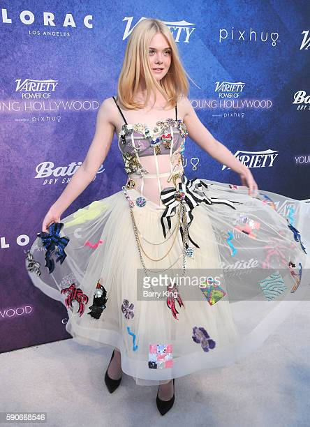 Actress Elle Fanning attends Variety's Power of Young Hollywood event presented by Pixhug with Platinum Sponsor Vince Camuto at NeueHouse Hollywood...