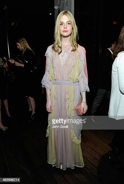 Actress Elle Fanning attends Women In Film PreOscar Cocktail Party presented by MaxMara BMW Tiffany Co MAC Cosmetics and PerrierJouet at Hyde Sunset...