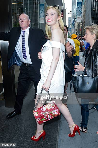 Actress Elle Fanning enters the Sirius XM Studios on June 23 2016 in New York City