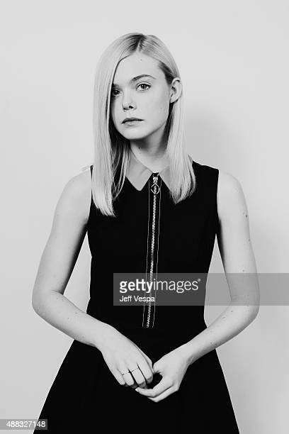 Actress Elle Fanning from About Ray poses for a portrait at the 2015 Toronto Film Festival at the TIFF Bell Lightbox on September 15 2015 in Toronto...