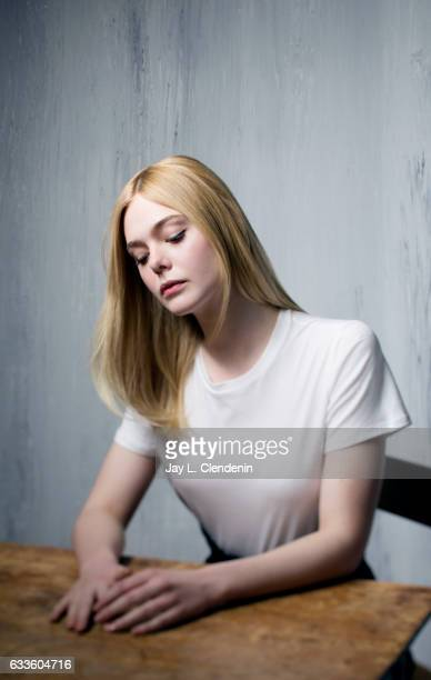 Actress Elle Fanning from the film Sidney is photographed at the 2017 Sundance Film Festival for Los Angeles Times on January 23 2017 in Park City...