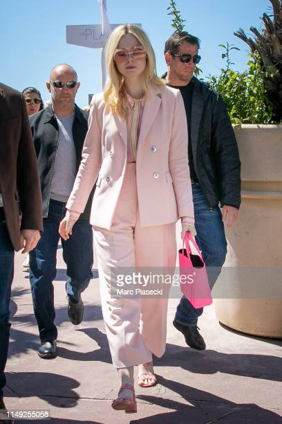 Actress Elle Fanning is seen during the 72nd annual Cannes Film Festival at on May 15 2019 in Cannes France