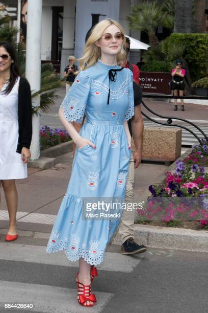 Actress Elle Fanning is spotted during the 70th annual Cannes Film Festival on May 18 2017 in Cannes France