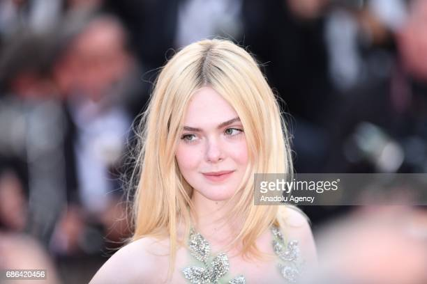 US actress Elle Fanning leaves after screening of the film How to talk to girls at parties out of competition at the 70th annual Cannes Film Festival...